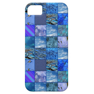 Tiled Mosaic in Blues Photography & Design Pattern Barely There iPhone 5 Case