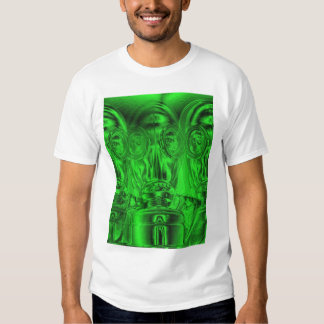 Tiled Neon Green Gas Mask by KLM T-shirts