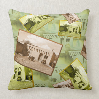 Tiled Pattern and Collage Adobe Building Cushion