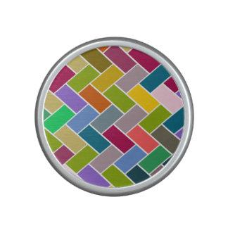 Tiled Pattern Colourful Mosaic Speaker