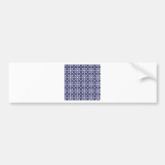 Tiled patterns bumper sticker
