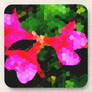 Tiled Pink Azalea Flowers Coasters