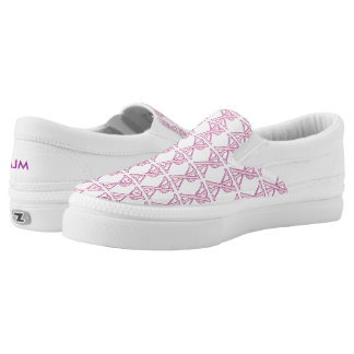 Tiled Pink Chi Ro Cross with Initials Printed Shoes