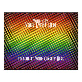 Tiled Rainbow Invitation