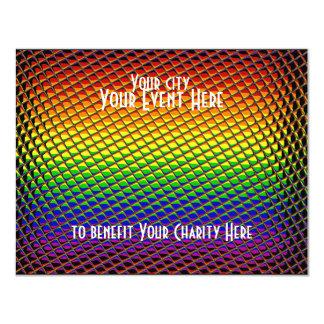 """Tiled Rainbow 4.25"""" X 5.5"""" Invitation Card"""