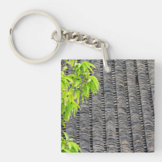 Tiled Roof Double-Sided Square Acrylic Key Ring