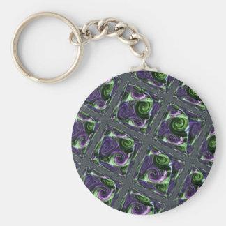 Tiled Swirls Keychain