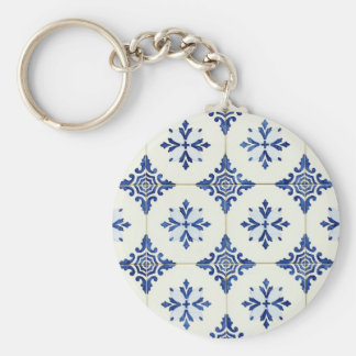 Tiles Basic Round Button Key Ring