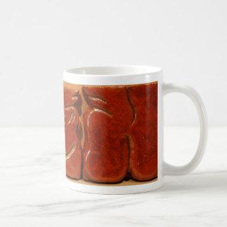 tiles basic white mug