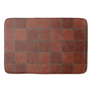 Tiles floor background bath mat