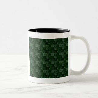 Tiles in Green Two-Tone Mug
