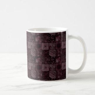 Tiles in Pink Basic White Mug