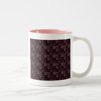 Tiles in Pink Two-Tone Mug