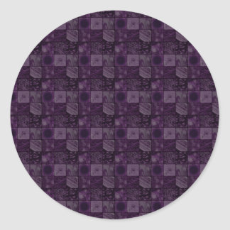Tiles in Purple Classic Round Sticker