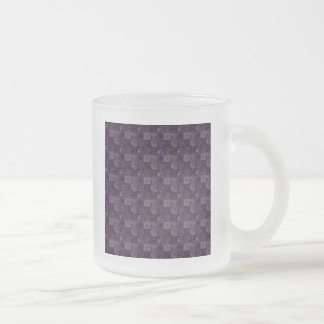 Tiles in Purple Frosted Glass Mug