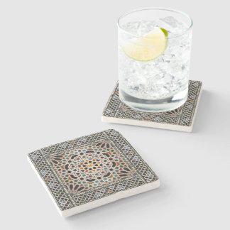 Tiles of the Alhambra Stone Beverage Coaster