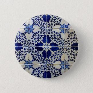 Tiles, Portuguese Tiles 6 Cm Round Badge