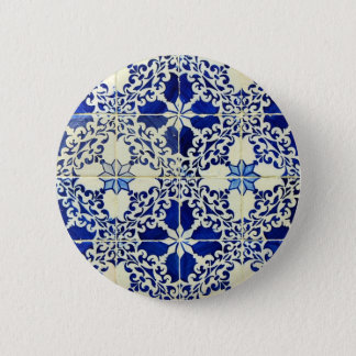 Tiles, Portuguese Tiles 6 Cm Round Badge