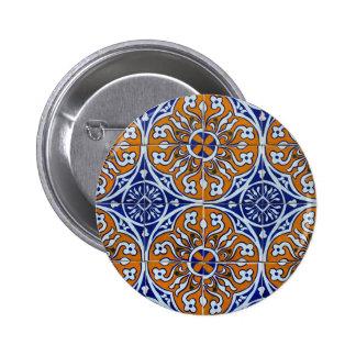 Tiles, Portuguese Tiles Pinback Button