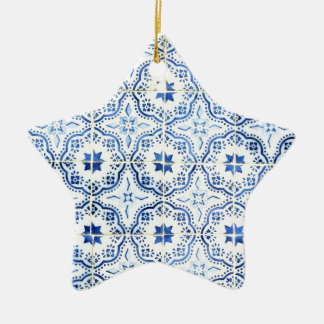 Tiles, Portuguese Tiles Christmas Ornament