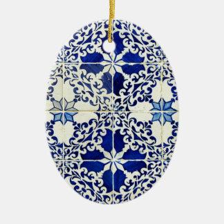 Tiles, Portuguese Tiles Christmas Ornament
