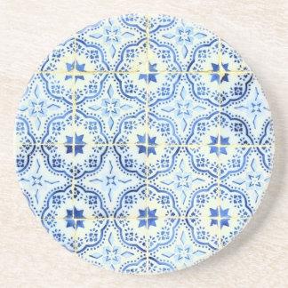 Tiles, Portuguese Tiles Beverage Coaster