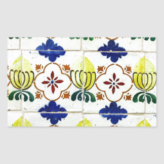 Tiles, Portuguese Tiles Rectangular Sticker