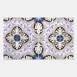 Tiles, Portuguese Tiles Rectangular Sticker