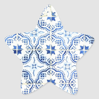 Tiles, Portuguese Tiles Star Sticker