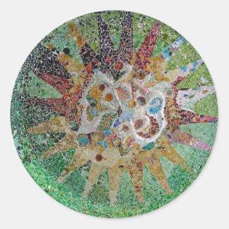 Tiles Round Sticker