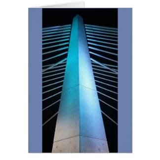 Tilikum bridge pier at night card