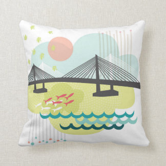 Tilikum Crossing Pillow Portland Oregon