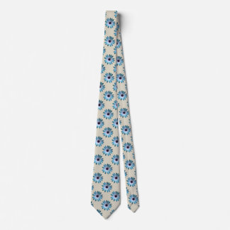 TIll Daisy on Stone Leather Print Tie