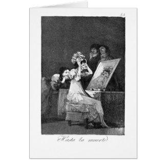 Till death by Francisco Goya Greeting Card