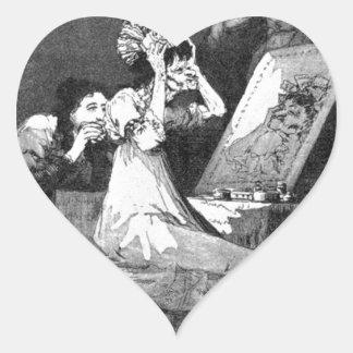 Till death by Francisco Goya Heart Sticker