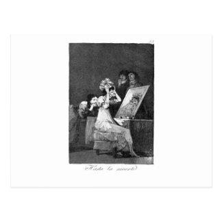 Till death by Francisco Goya Postcard