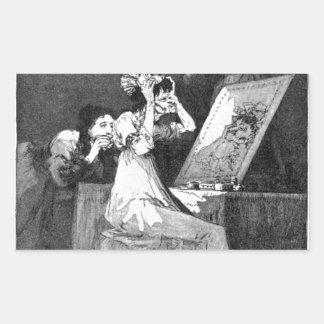 Till death by Francisco Goya Rectangular Sticker