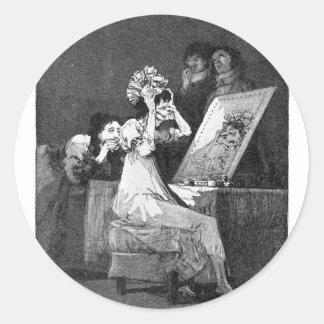 Till death by Francisco Goya Round Sticker