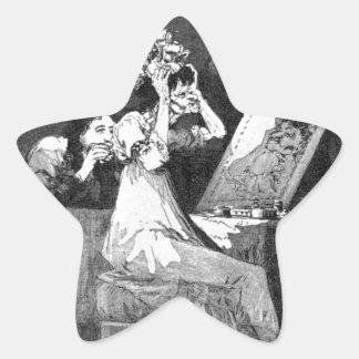Till death by Francisco Goya Star Sticker