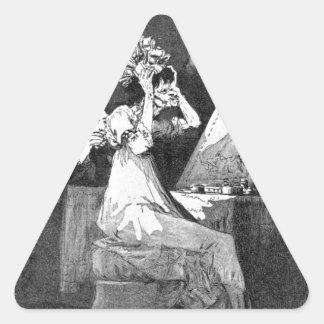 Till death by Francisco Goya Triangle Sticker