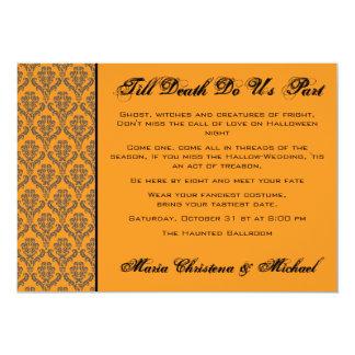 Till Death Damask Hallowedding Invitation
