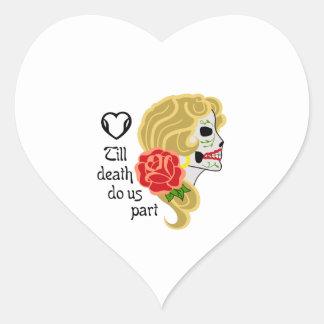 TILL DEATH DO US PART HEART STICKER