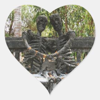 Till Death Do Us Part ... Nong Khai, Thailand Heart Sticker