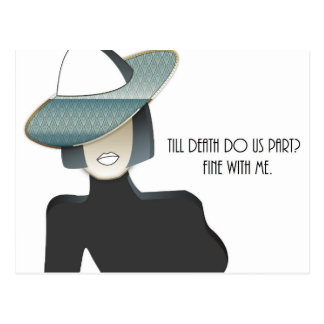 Till death do us part? postcard