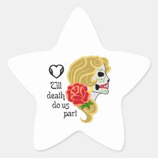 TILL DEATH DO US PART STAR STICKER
