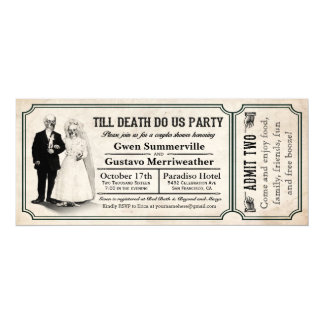 Till Death Do Us Party Couples Shower Tickets 10 Cm X 24 Cm Invitation Card