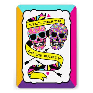 Till Death Do Us Party - Neon Wedding Invitation