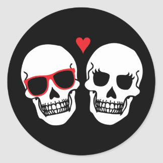 Till Death Do Us Party - (Red) Envelope Seal Round Sticker