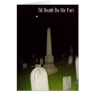 Till Death Do We Part-Haunting Invitation Greeting Card