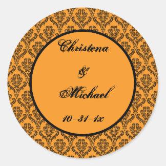 Till Death Hallowedding Round Sticker